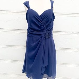 David's Bridal Size 12 Navy Blue Dress